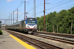 Crescent at Perryville (ryanstuart1) Tags: amtrak northeast corridor north east long distance passenger train crescent nec high speed trains acs64 electric locomotive amfleet viewliner marc station maryland perryville
