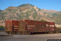Rio Grande Box Cars (jamesbelmont) Tags: drgw riogrande provo utah boxcar railroad railway train