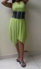 SDC12978 (ikat.bali) Tags: belt leather leder gürtel breitegürtel fashion fetish frau fotomodell sexy amateur lady girl dress kleid
