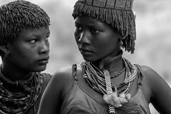 Hamer Girls (alphonso49uk) Tags: hamer ethiopia tribe portrait blackandwhite monochrome candid omovalley