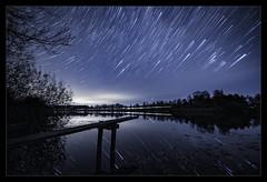 Moving (apodemetes) Tags: mühledorf bern schweiz ch star trails night lake reflexion sigma14mmf18dghsmart
