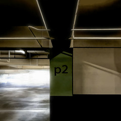 peetoo (MyArtistSoul) Tags: hotel parking garage p2 level2 thevalley shermanoaks marriott abstract glowy iphone urban square 3490 iph