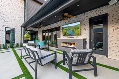 Weatherford (Wade Griffith) Tags: 2018 aquaterraoutdoors fall frisco october pool tx texas weatherford backyard concrete fan firepit fountain golf grill landscaping loungechairs morning outdoorgrill outdoorpool outdoors patio patiofurniture pipes plants pooltiles putputgolf turf wooddeck
