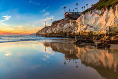 North End of Pismo Beach (Mimi Ditchie) Tags: pismobeach sunsetreflections sunset reflections cliffs clouds light pismo beach seascape northpismobeach sand rocks wetsand lowtide mimiditchie mimiditchiephotography getty gettyimages