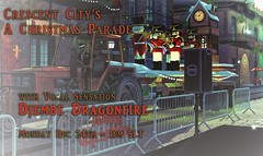 A Christmas Parade (Uri Jefferson) Tags: sl secondlife parade events fliers party music live singer djembe new orleans crescent city