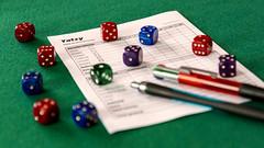 Yatzy (Jorge Franganillo) Tags: yatzy scorecard dice dados tabladepuntuaciones juegodeazar juegodemesa tapeteverde gameofchance tabletopgame yahtzee generala