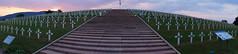 Nécropole de Sigolsheim (Philippe Haumesser (+ 6000 000 view)) Tags: sky cimetière cemetery cimetières cemeteries croix cross escalier upstair coucherdesoleil sunset nuages clouds drapeau flag sigolsheim nécropole alsace elsass france hautrhin 68 panoramique 2018