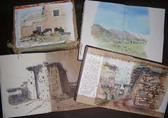 dans la vallée des Aït Bougmez (Nathalie Lefebvre 76) Tags: maroc morocco croquis carnet carnets carnetdevoyage aquarelle aitbougmez