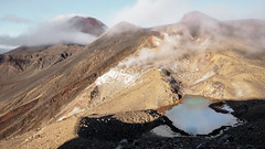 Red Crater (blue polaris) Tags: new zealand tongariro national park emerald lakes cloud steam volcano mt mount ngauruhoe red crater landscape