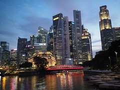Singapore CBD in Golden Hour (Thanathip Moolvong) Tags: em5markii sg singapore cbd hd hides olympus