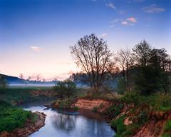 Evening by the river (fotoswietokrzyskie) Tags: sky tree grass forest water wood kodak ektar100 mamiya rz67ii sekor 65mm medium format analog 6x7 river landscape mamiyarz67ii evening