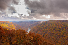MCZ_2186 (markczerner) Tags: landscape outdoors fall colors fallcolors autumn orange red trees nature river coopers rock coopersrock statepark park west virginia wv wva countryroads country roads cheatriver valley mountains forest