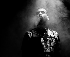 experimenting... (justcrazed95) Tags: smoke photography blackandwhite high contrast bnw studio art