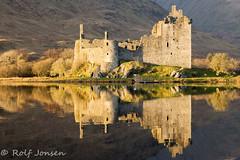 Kilchurn Castle (rjonsen) Tags: castle ruins building structure golden hour light evening reflection loch awe scotland alba
