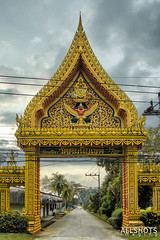 Thailand holiday 2014 (Allshots Imaging) Tags: yellow thailand south east asia holiday asian thai scenery tourist tourism canon eos40d eos 40d photography photoshop vibrant clear clarity beautiful travel ornate intricate archway entry khaolak khao lak
