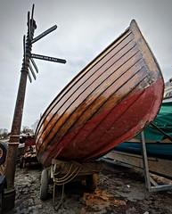 Boat work in progress at Richmond Bridge Boathouses
