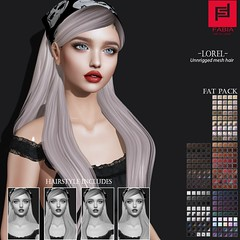 -FABIA- Mesh Hair  Gift _ Lorel_ (FABIA.HAIR) Tags: gift free 3d fashionlook fashion virtual virtuallife mesh meshhair hair rigged beauty look piktures fabia nice meef head special sl second secondlife sweet event hairstyle style life lovely avatar spam shopping new release best love everyday art shop women locks girl