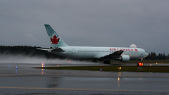 Air Canada Rain Blaster (Ben_Senior) Tags: ottawa ontario canada ottawamcdonaldcartierairport ottawainternationalairport ottawaairport yow cyow bensenior planespotting nikond7100 nikon d7100 airplane plane airliner airline aircraft aviation departure takeoff lineup taxiing runway taxiway aircanada ac aca boeing 767 763 767300er b767 b763 b767300er widebody cf6 ge generalelectric jet cfxca