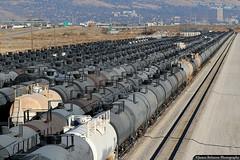 Earning Revenue Storing Freight Cars (jamesbelmont) Tags: saltlakegarfieldwestern slgw saltlakecity 7200 utah tankcar storage saltlakeinternationalairport i80