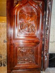 Puerta de madera tallada interior Real Basilica de San Francisco el Grande Madrid 01 (Rafael Gomez - http://micamara.es) Tags: puerta de madera tallada interior real basilica san francisco el grande madrid