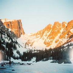 Dream Lake (darylovejr) Tags: kodak portra400 mediumformat film hasselblad 500cm dream colorado lake hike mountain sunrise