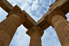 Selinunte Temple of Hera 5 (PhillMono) Tags: nikon d7100 travel tourist history heritage ruin relic abandoned empty remains sicily italy art architecture selinunte temple ancient greece perspective hera pillar column