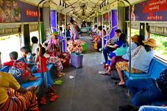Yangon Central Line (gerard eder) Tags: world travel reise viajes asia southeastasia myanmar burma birmania birma yangon railwaystation railway train trainstation centralline people peopleoftheworld traffic transport rangoon outdoor