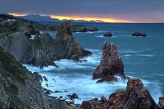 Cantabrian Sunset (hapulcu) Tags: atlantic atlantico atlantique cantabria espagne espanha espanya españa herbst hiszpania santander spagna spain spania spanien spanje spanjë automne autumn autunno ocean oceano otoño toamna španija