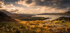 Upper Loch Torridon (GenerationX) Tags: alliginshuas balgy barr canon6d inveralligin lochshieldaig neil scotland scottish upperlochtorridon westerross clouds fence grass landscape mountains sea sky trees water
