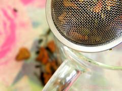 It all begins with.... (DeeClarkePhotography) Tags: stilllife tea brew strainer leaf tealeaf macro bokeh macromondays