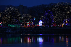 Snowman at the Rotary Lights (Marcy O) Tags: lacrosse wisconsin christmas lights 2018