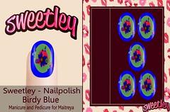 Sweetley - Nailpolish Birdy Blue  add (Sweetley SL) Tags: sweetly sl maitreya applier nailsapplier bento mesh avatar bird blue nature style unique trendy