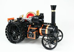 LEGO Burrell Road Locomotive (Mr_Kleinstein) Tags: lego technic steam steamengine tractionengine steampunk legoideas