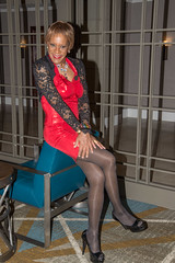 Sitting Pretty! (kaceycd) Tags: crossdress tg tgirl lycra spandex wetlook metallic minidress lace stretchlace shrug jacket pantyhose pumps peeptoepumps opentoepumps highheels stilettopumps stilettoheels sexypumps stilettos s