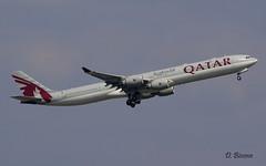 Airbus A340 ~ A7-AGC  Qatar (Aero.passion DBC-1) Tags: spotting cdg 2008 roissy dbc1 david biscove aeropassion avion aircraft aviation plane airlines airliner airport airbus a340 ~ a7agc qatar