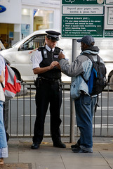 """HOFFMAN_061104_102 (hoffman) Tags: stopandsearch street police black check davidhoffman davidhoffmanphotolibrary socialissues reportage stockphotos""""stock photostock photography"""" stockphotographs""""documentarywwwhoffmanphotoscom copyright"""