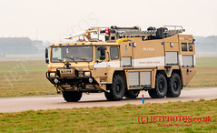RAF Coninsby (JetPhotos.co.uk) Tags: defence eurofighter fgr4 fighter rafconinsby royalairforce typhoon uk wwwjetphotoscouk fireengine truck airfield