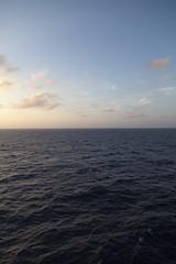 Diamond Princess, Evening, South China Sea (neonbubble) Tags: princesscruises diamondprincess sunset dusk evening sea horizon ocean southchinasea cruiseship cruise ship sun