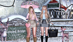 Welcome To North Pole (JarSephora) Tags: hollyee besha locki lollipop pose rare gacha shinny shabby deer family yokai goose arcade event covered bridge set epoque belle stay warm amias cosmopolitan lilja iria necklaces truth teila maitreya lara mesh body catwa bennto head catya secondlife second life ssl style fash fashion winter xmas christmas friends companion snow female woman girls girl outfit pink skirt heart virtual wrold snowing jarsephora jar sephora ricci blog blogger blogging blue grey gray animals pet outdoor nature