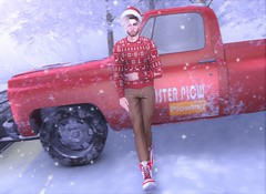 Skip The Shovel (EnviouSLAY) Tags: snow winter scene winterscene truck red sweater chinos pants khaki boots white santa christmas badunicorn bad unicorn riot gacha hat doux santahat dufaux versov coldash cold ash belleza lelutka bento tmd newreleases the mens department new releases theepiphany epiphany gachaevent gachafair gachafashion mensevent mensfair mensfashion mensmonthly monthlymen monthlyfashion monthlyfair monthlyevent monthly event fair fashion pale male gay blogger secondlife second life photography