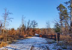 St. John's Landing - Road Closed - Saint Croix State Park, Minnesota (Tony Webster) Tags: minnesota saintcroixstatepark saintjohnslanding stcroixstatepark stjohnslanding gate nosnowmobiles roadclosed roadclosure snow statepark winter ogema unitedstates us