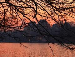 Sunset in Turin city. (giuselogra) Tags: sunset torino turin fiumepo po italia italy tramonti piedmont piemonte