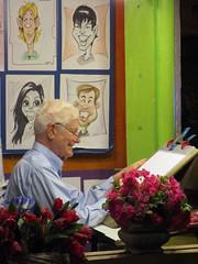 Happy Sketch Artist (BunnyHugger) Tags: casabonita colorado denver mexican restaurant sketchartist