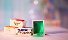RGB (Elisafox22) Tags: elisafox22 sony nex6 sonye30mmf35 macrolens macro hmm macromondays watercolour colours rgb red blue green watercolourpans paint paints paper light bokeh stilllife indoors elisaliddell©2019