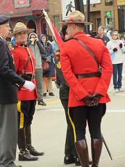 Conversation (jamica1) Tags: kelowna okanagan bc british columbia canada remembrance day november 11th parade rcmp grc royal canadian mounted police mounties