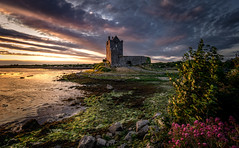 Sunset at Dunguaire Castle
