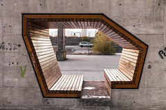 Bench in a concrete wall. (Stefano Perego Photography) Tags: stepegphotography stefano perego concrete bench geometry geometric design contemporary architecture