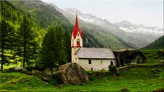 The Heiliggeistkirchlein in the valley of the Ahr in South Tyrol (Ostseetroll) Tags: geo:lat=4705342445 geo:lon=1214046790 geotagged ita italien kasern südtirol taufererahrntal valleaurina valleyoftheahr olympus em5markii kirche church alpen alps