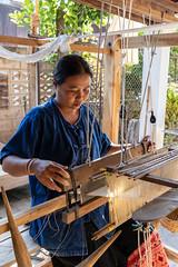 RFE 7090 to 3360 Phrae Day 1  by Terry Babij--3545 (Terry Babij) Tags: 2018 fabric fiolk historic looms musicalinstrumentmaker phrae rfe rfe2018 thailand tradionalinstruments weaving