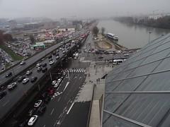 L'autoroute du soleil sous la pluie (Jeanne Menjoulet) Tags: autoroute france muséedesconfluences lyon autoroutedusoleil a7